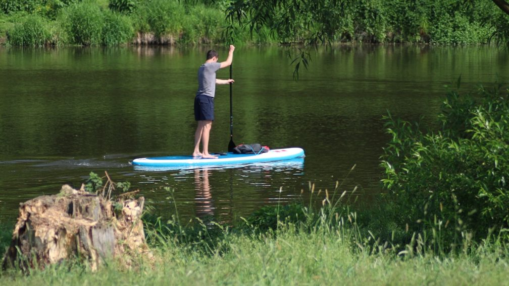 Poprvé s paddleboardem na Sázavu