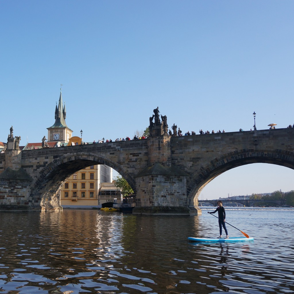 Paddleboarding in Prague in Prague close to Club Lávka